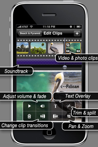 ReelDirector iPhone、iPad 両対応アプリ